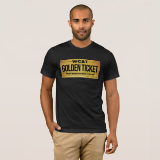 WCST GOLDEN TICKET  Men's Basic American Apparel T-Shirt
