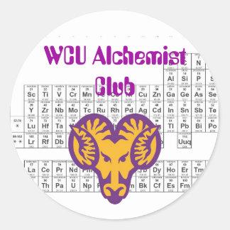WCU Alchemist Club Round Sticker