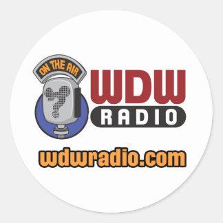 WDW Radio Logo Gear Classic Round Sticker