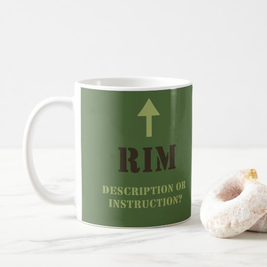 WDYHC No 3, Rim Coffee Mug