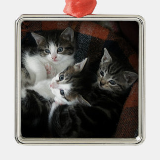We 3 Kits Silver-Colored Square Decoration