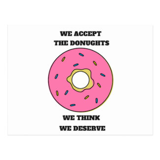 We Accept...Doughnuts Humor Collection Postcard