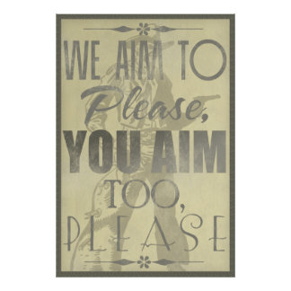 We Aim to Please Poster