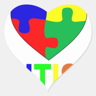 We All Belong AUTISM.png Heart Sticker