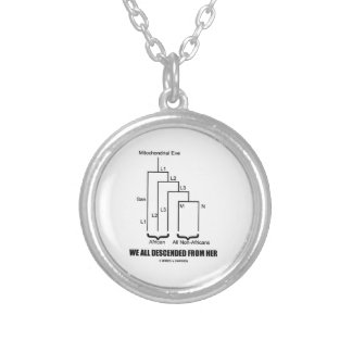 We All Descended From Her Mitochondrial Eve Silver Plated Necklace