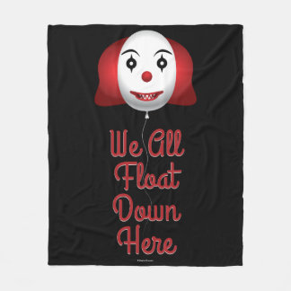 We All Float Down Here Fleece Blanket