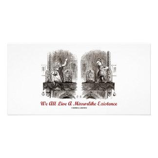 We All Live A Mirrorlike Existence (Wonderland) Customised Photo Card