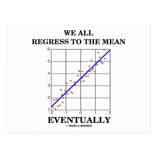 We All Regress To The Mean Eventually (Statistics) Postcards