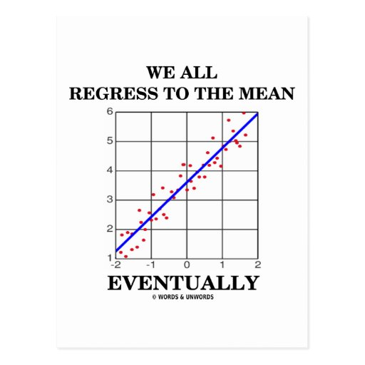 We All Regress To The Mean Eventually (Statistics) Post Card