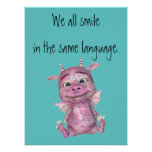 We all smile in the same language poster