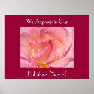 We Appreciate Our Fabulous Nurses art prints Pink Print