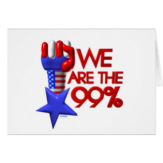 We are 99% rising star greeting card