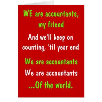 We Are Accountants Funny Christmas Card