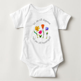 We Are All Beautiful Inspirational Baby Bodysuit