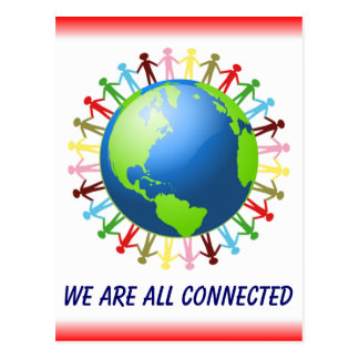 We Are All Connected postcard