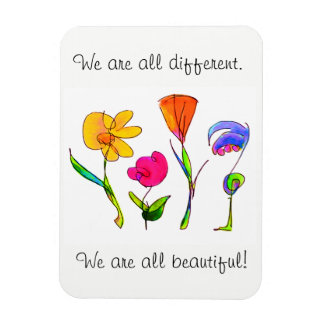 We Are All Different & Beautiful Diversity Magnet