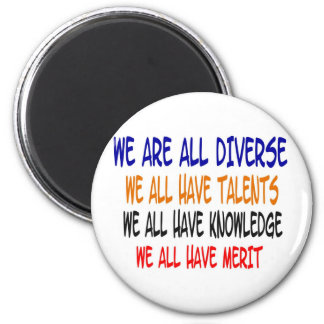 We Are All Diverse (White) Magnet