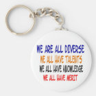 We Are All Diverse (White)nKeychain Key Ring