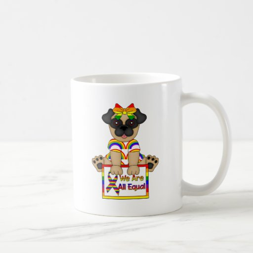 We Are All Equal Gay Pride tees and Gifts Mugs
