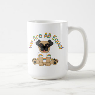 We Are All Equal Pug Tees, Gifts - Pastel Rainbow Mugs