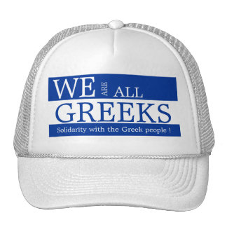 WE ARE ALL GREEKS CAP