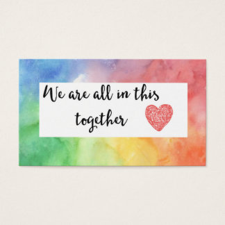 We Are All In This Together Acts of Kindness Card