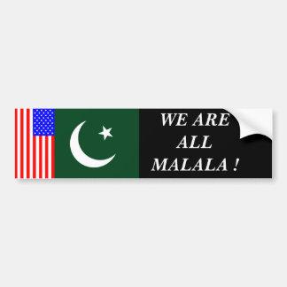 WE ARE ALL MALALA ! BUMPER STICKER