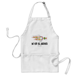We Are All Mutants (DNA Replication Humor) Standard Apron