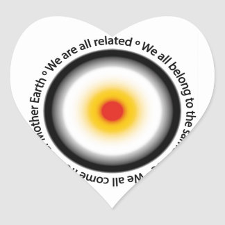We are all related heart sticker
