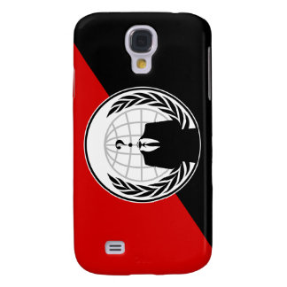 We Are Anonymous Anarchist Flag Galaxy S4 Covers