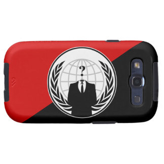 We Are Anonymous Anarchist Flag Galaxy SIII Covers