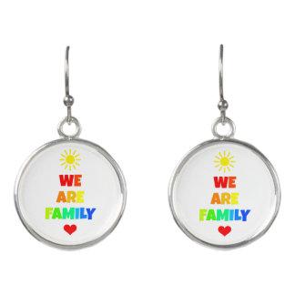 We Are Family Rainbow Sunshine Adoption Design Earrings