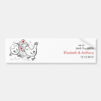 we are in love STD with cute birds Bumper Sticker