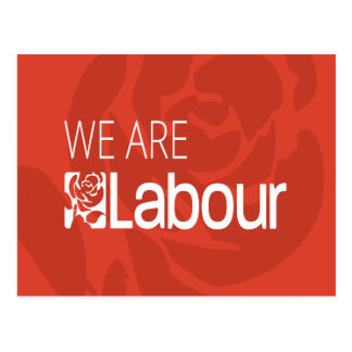 We Are Labour Rose Logo Postcard