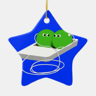 We Are Like Two Peas In A Pod Ceramic Star Decoration