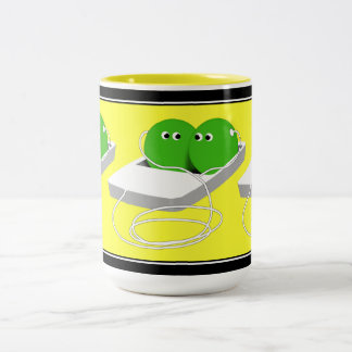 We Are Like Two Peas In A Pod Two-Tone Coffee Mug
