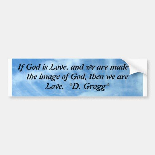 We are Love Bumper Sticker
