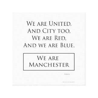 'We Are Manchester' canvas print (12x12)