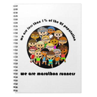 We are marathon runners notebook (white)