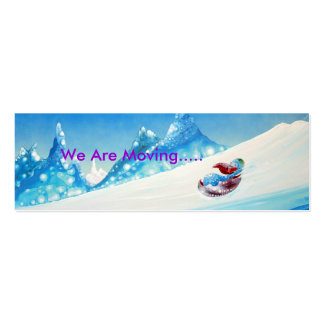 We Are Moving - small card Business Card Template