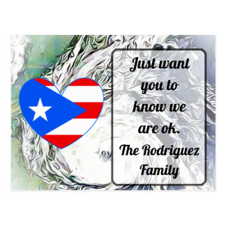 We are Ok, Personalized Puerto Rico Postcards