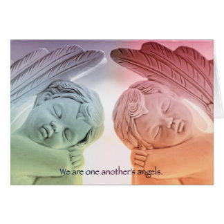 We are one another's angels greeting card