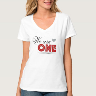 We are One Female V-neck T-shirt