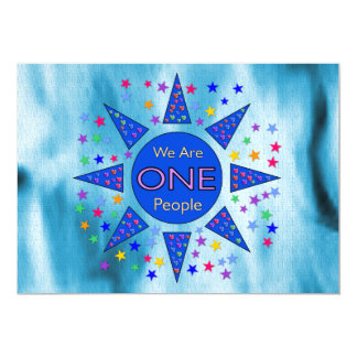 We Are One People 13 Cm X 18 Cm Invitation Card