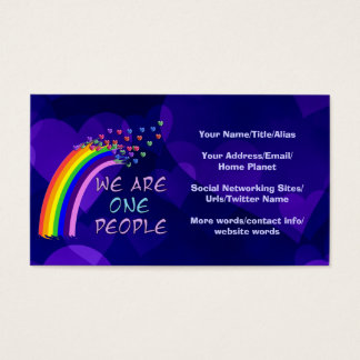 We Are One People Business Card