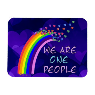 We Are One People Rectangular Photo Magnet
