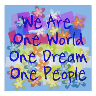 We Are One World Print