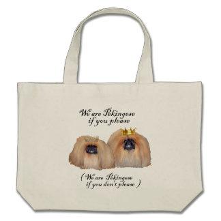 We are Pekingese Canvas Bag