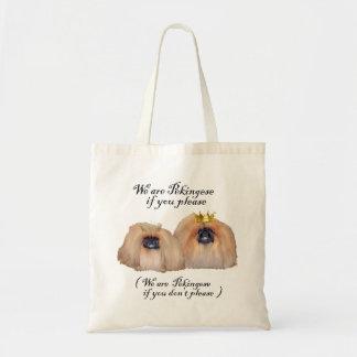 We are Pekingese Budget Tote Bag