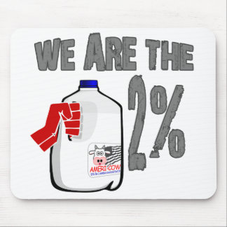 We Are The 2% Milk! Funny Occupy Wall Street Spoof Mousepad